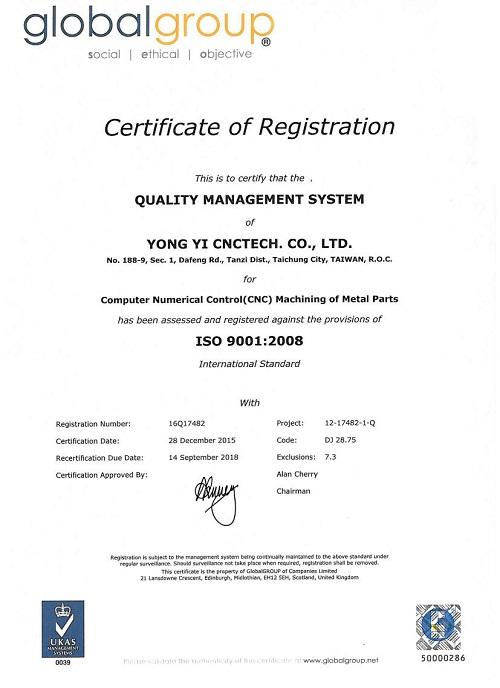 Yong Yi CNCTech Co., Ltd.